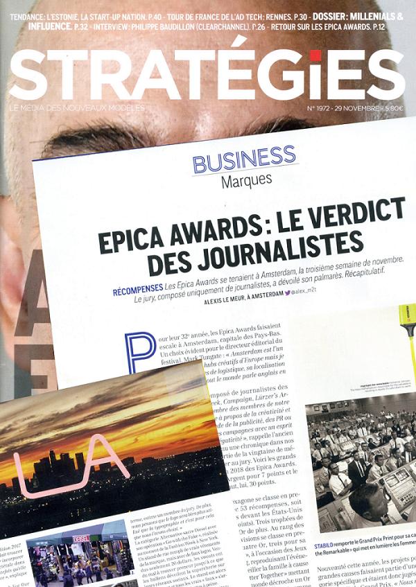 f5f58b00e767 EPICA AWARDS   LES JOURNALISTES RENDENT LEUR VERDICT